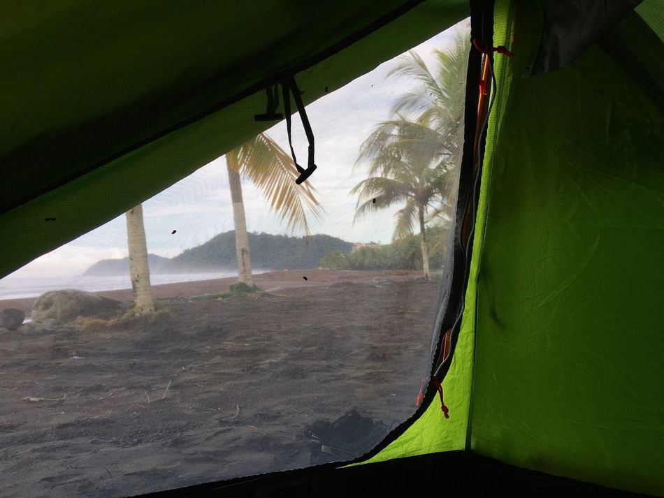 Wakeup Camping Nature On The Beach Landscape Adventure Jungle Morning Morning Light Palm Palm Tree View Tent Bivouac Backpacking Backpacker Adventurer Costa Rica Miles Away Beach Jaco Beach Pacific Coast Central America Wake Up My Year My View The Secret Spaces