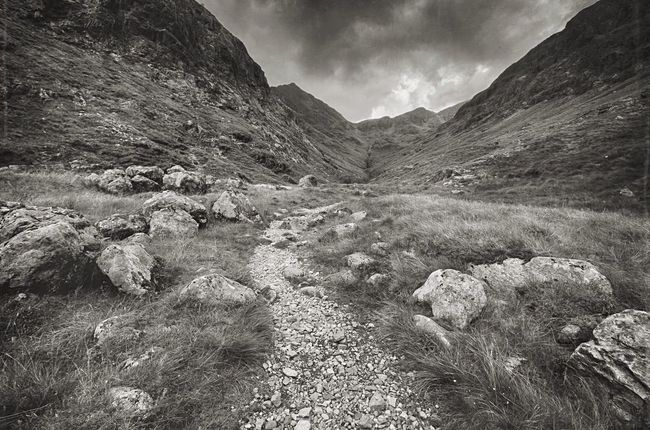 Trail Scottish Highlands Mysterious Landscape Scotland Highlands Glencoe Mountain Range Mountains And Sky Natures Diversities Blackandwhite Landscape_photography Path In Nature Trail Mountain Trail The Great Outdoors - 2016 EyeEm Awards Wild Nature Beauty In Nature Rugged Beauty The Hidden Valley Lovegreatbritain Mountain Hiking Countryside The Highlands Scotland 💕 Scottish Scenery Glencoe Mountain Resort