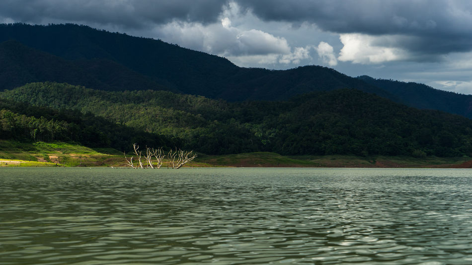 Beauty In Nature Chiang Mai | Thailand Cloud - Sky Clouds And Sky Dark Day Lake Landscape Mae Ngat Mountain Mountain Range Nature No People Outdoors Scenics Sky Thai Thailand Tranquil Scene Tranquility Tree Water