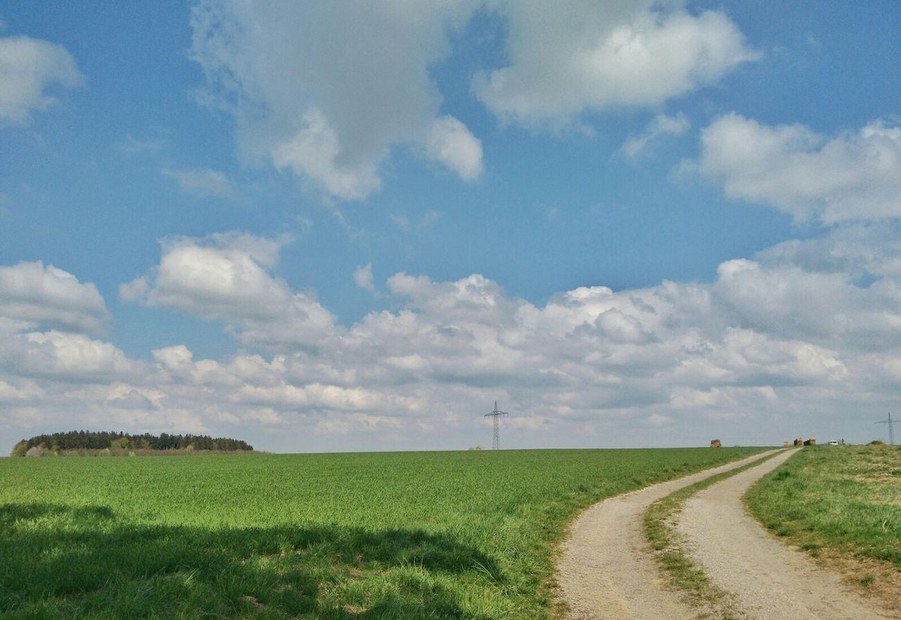 Landscape Enjoying The Sights Naturelovers Colorful Nature Bayern München Walking Around Clouds And Sky