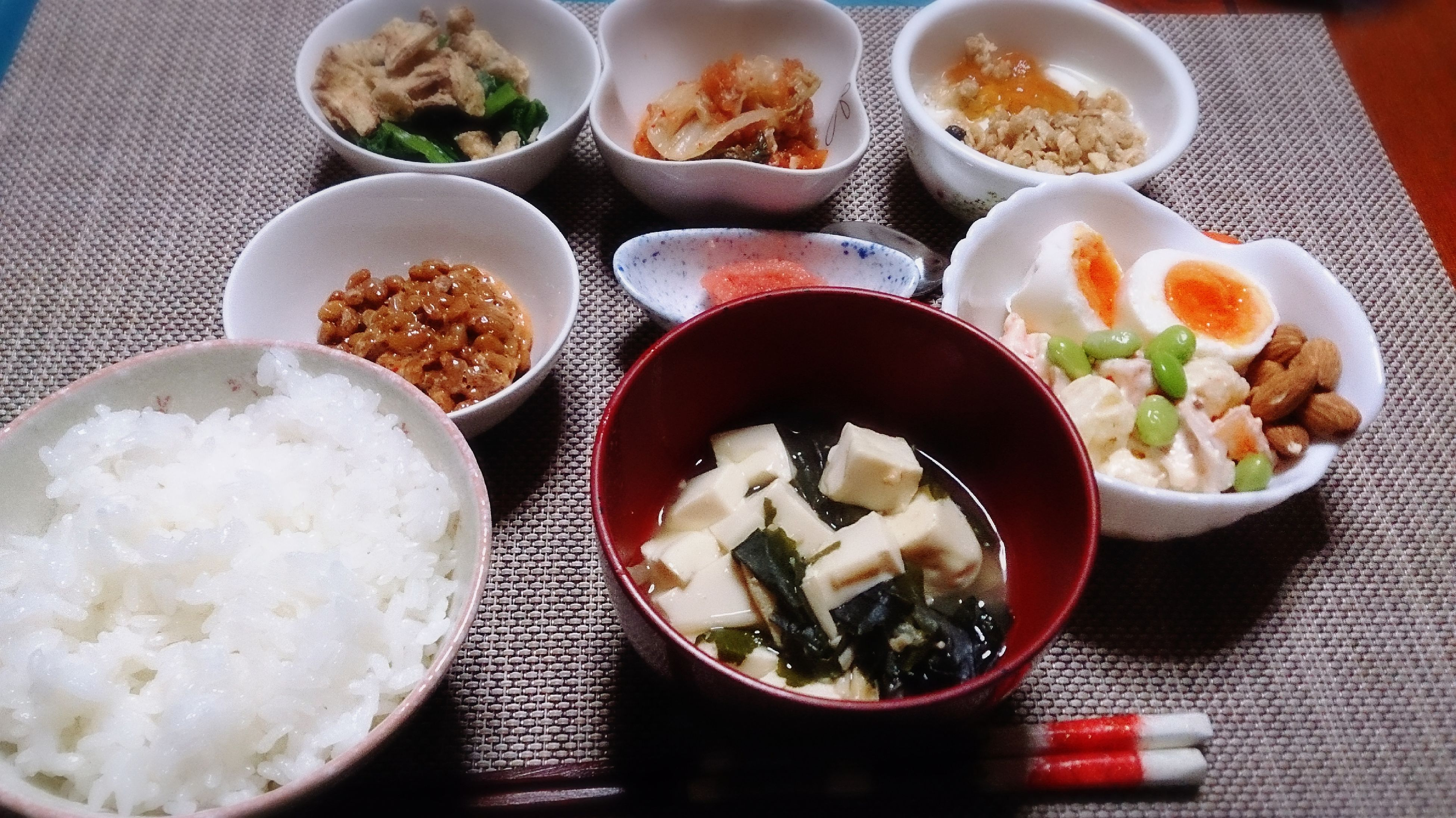 food and drink, food, freshness, ready-to-eat, indoors, table, plate, still life, healthy eating, meal, bowl, serving size, high angle view, served, meat, rice - food staple, salad, indulgence, vegetable, seafood