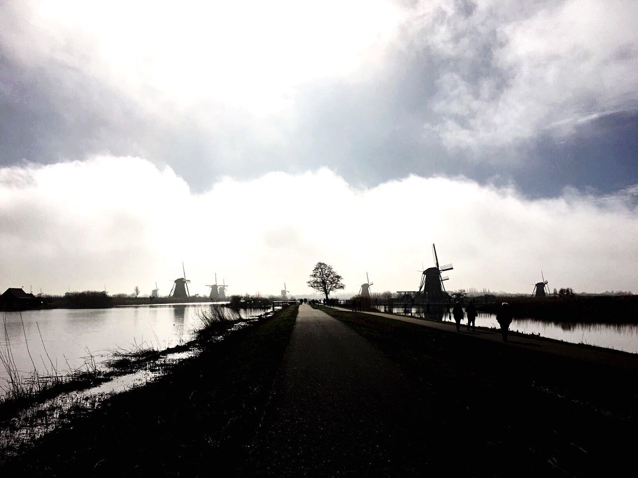 Sky The Way Forward Day Cloud - Sky Outdoors Transportation Nature No People Road Water Architecture