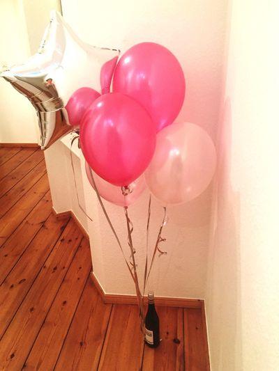 Balloons Home Wooden Floor
