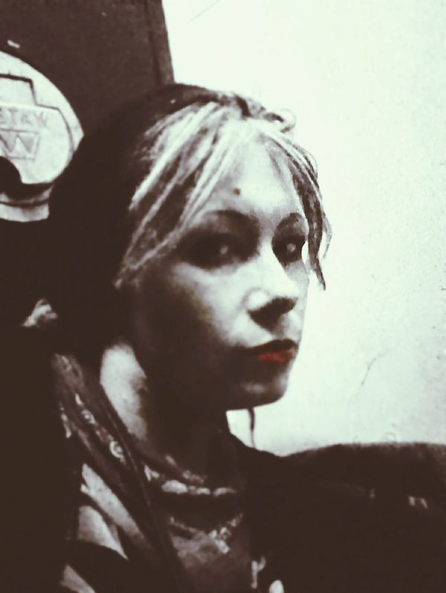 The three shadows. The Photographer Retrica«Ava» Red Lips Melancholy Depression Addict Self Portrait Plain Jane Homely Ugly Empty Sad Fractured Shattered