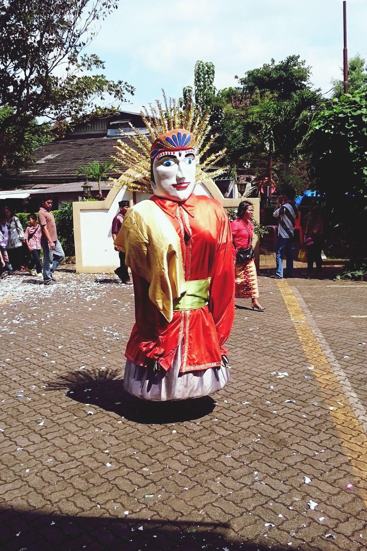 Ondel-ondel Outdoors Human Representation Puppet Ondel-ondel People Culture Festive Folk Village