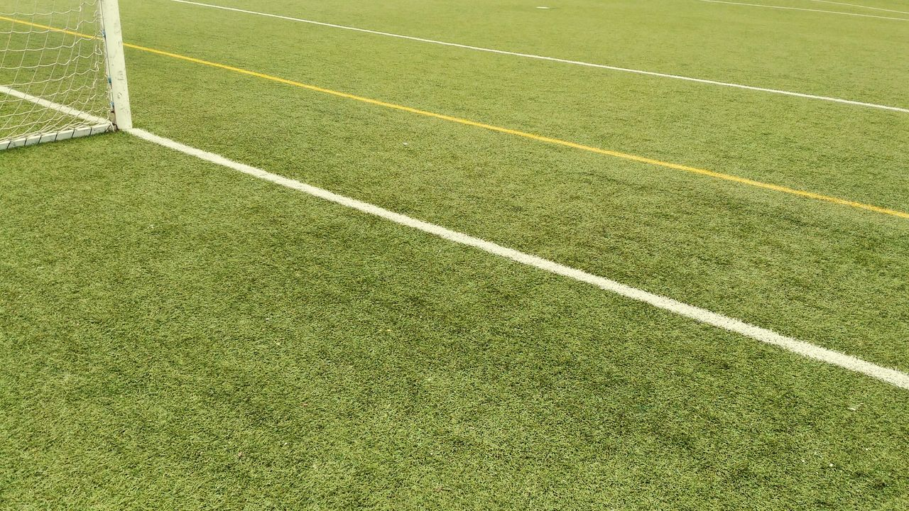 Sport Soccer Field Soccer Playing Field Green Color Grass Turf Full Frame Backgrounds Stadium No People Team Sport Outdoors Competitive Sport Court Day