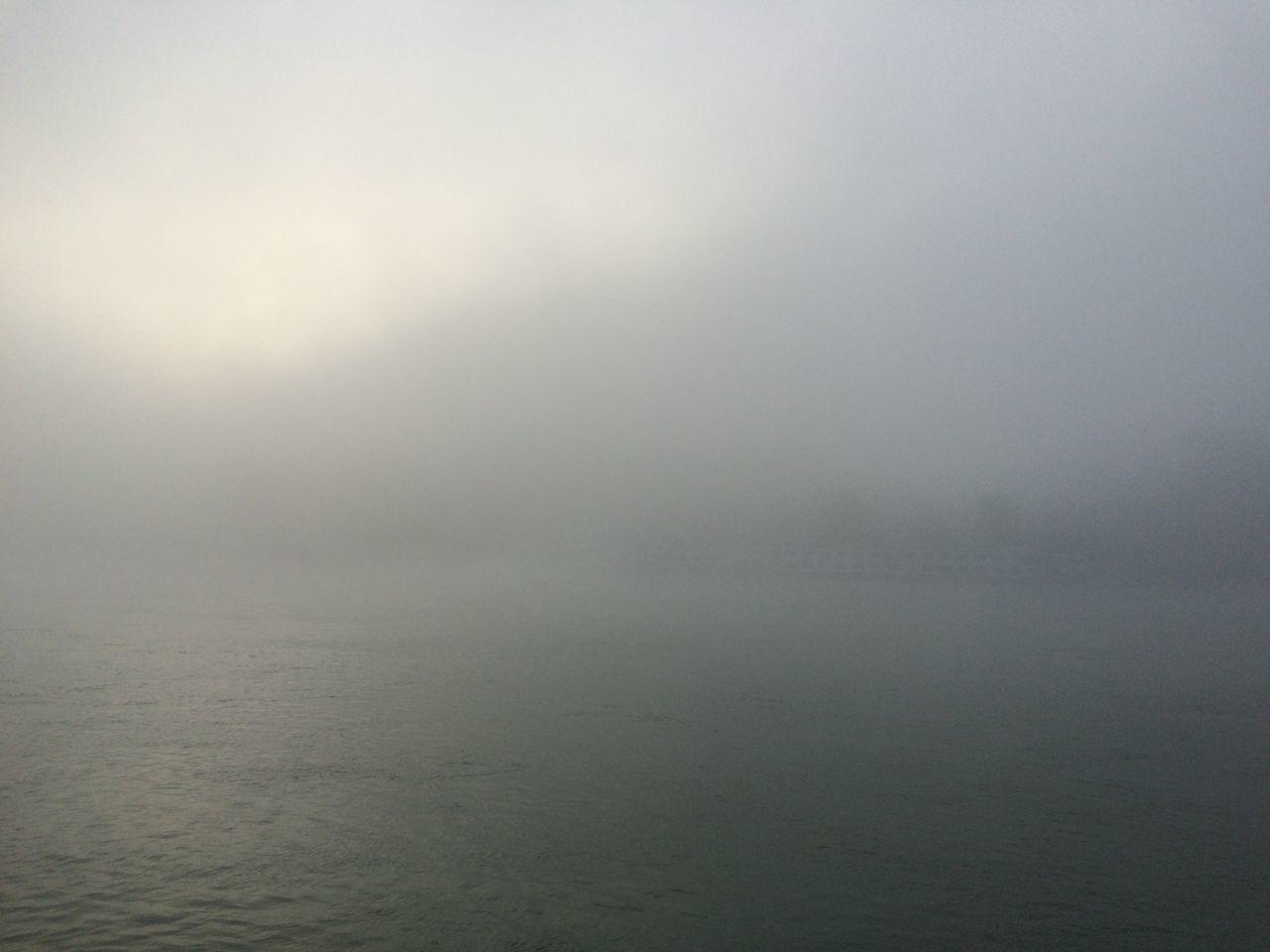Scenic View Of Fog Over Sea