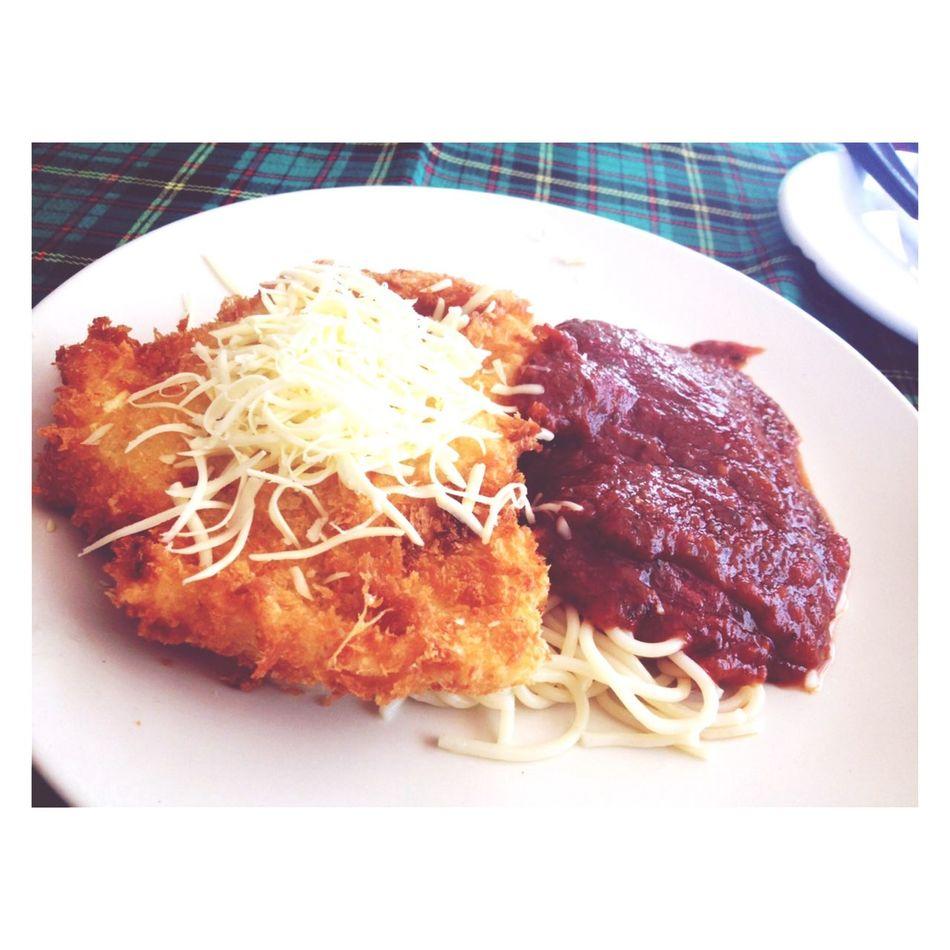 Spaghetti Fish-fried