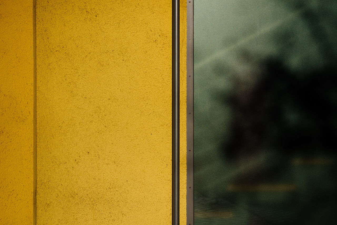 yellow | green Architecture Backgrounds Close-up Day Full Frame Indoors  Metal Minimalism Minimalobsession No People Sunlight Sunlight And Shadow Wallpaper Yellow Minimalist Architecture