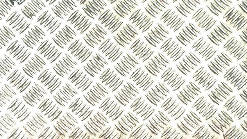 Metal Floor Pattern Over Exposed
