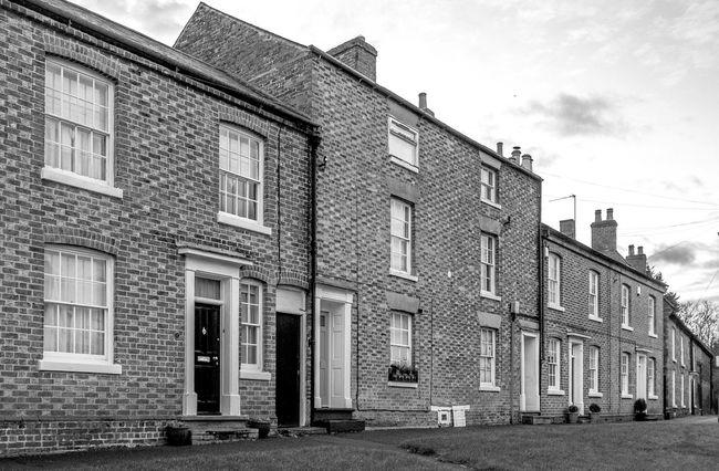 Around the Green, Hardingstone Monochrome Village Hardingstone Fujifilm X100T Northamptonshire Black And White Architecture