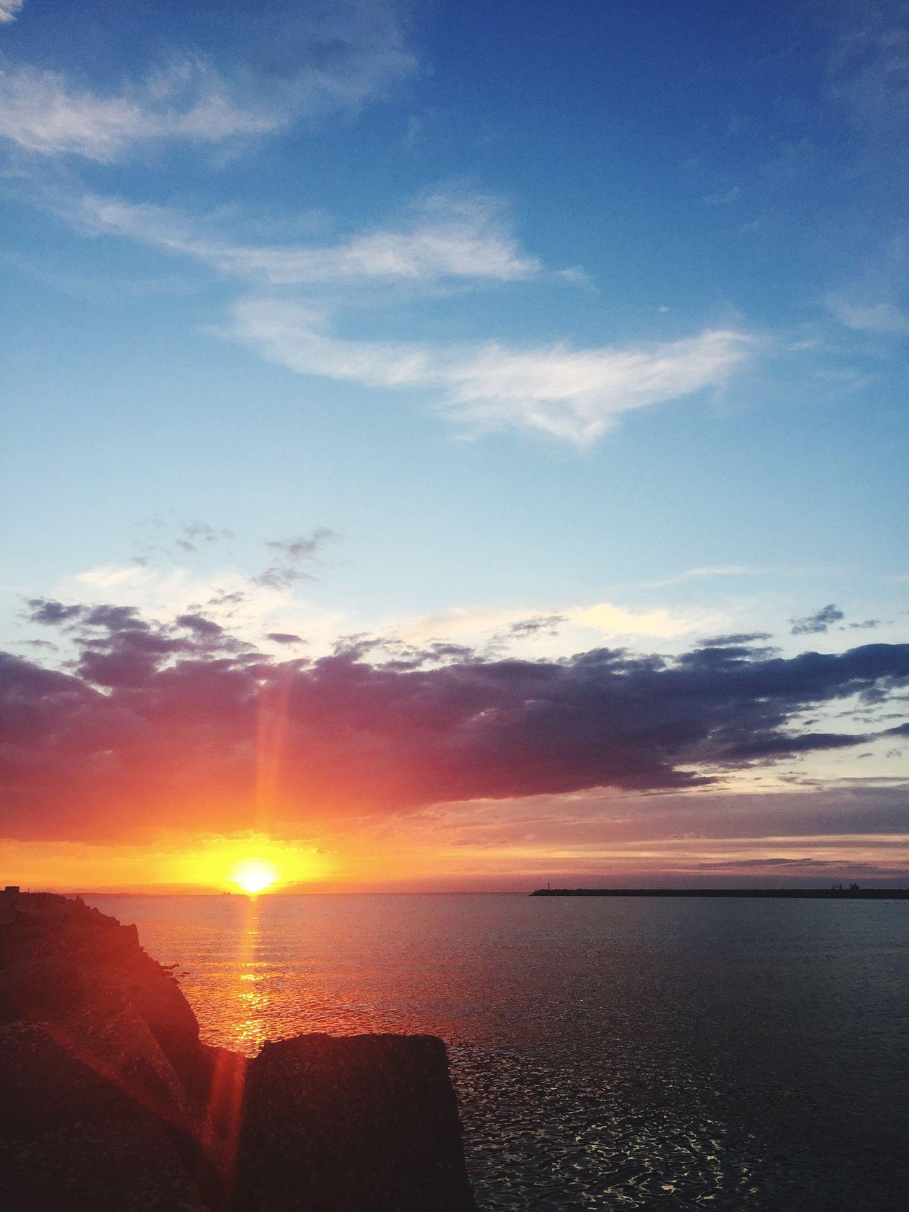 Life is... Hello World Relaxing Enjoying Life Sunset Adriatic Sea PortodiAncona