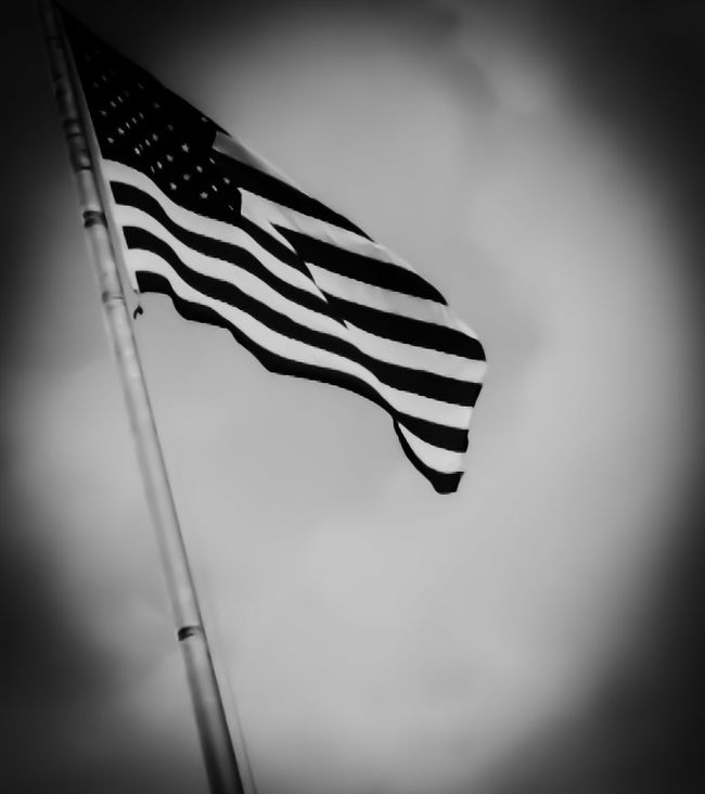 Proud to be an American Black & White American Flag Eye4photography  America