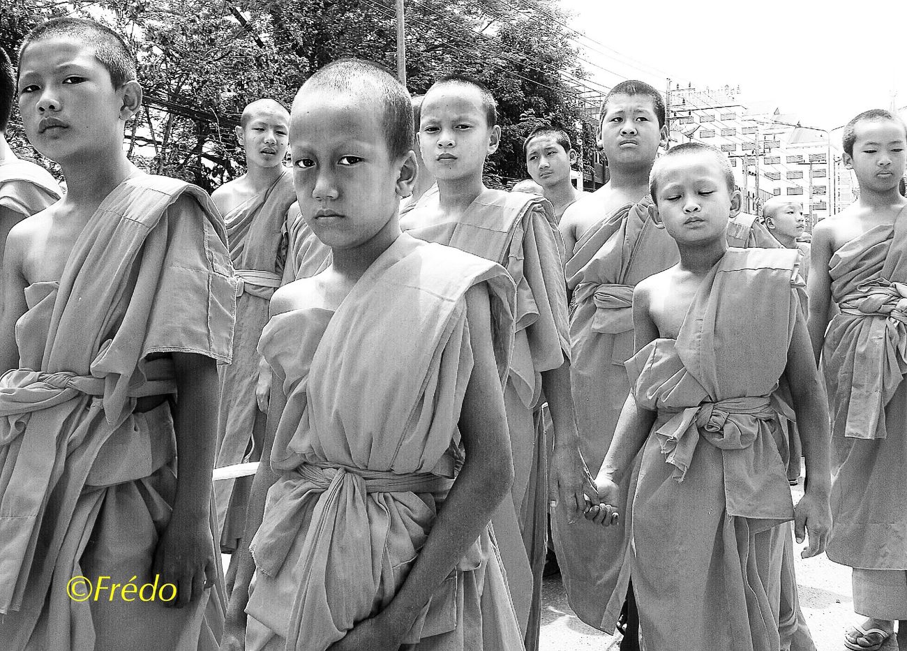 Enfants moines à Chiang Mai Child Outdoors Large Group Of People Boys Portrait People Monks Buddhism Buddhist Monks Streetphotography Real People Faces Of EyeEm Portrait Photography Street Photo Photo Of The Day Photooftheday Eyem Gallery Street Photos😄📷🏫⛪🚒🚐🚲⚠ Photography Eyeemphotography Faces Of The World Looking At Camera Childhood Street Blackandwhite