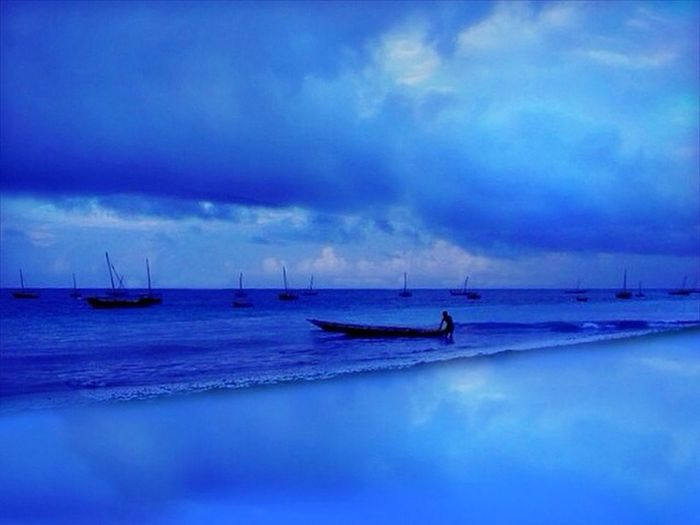 Africa is magical Africa Zanzibar Sky_collection Blue