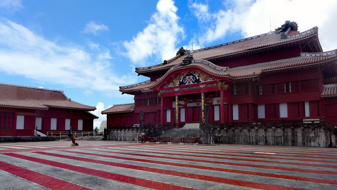 UNESCO World Heritage Site Shuri Castle Shurijo Castle Cultures Architecture RedBuilding Exterior History Okinawa Castle OKINAWA, JAPAN