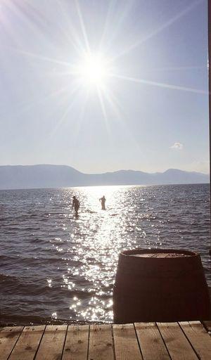 Summer is still in my mind... Sea Beach Horizon Over Water Sunny Clear Sky Sun Water Sky