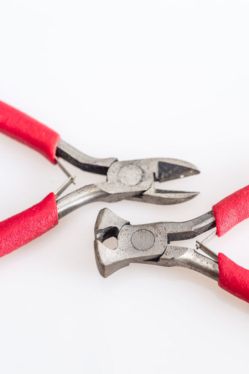 Close-up Equipment Hand Tool No People Pliers Red Studio Shot White Background Work Tool