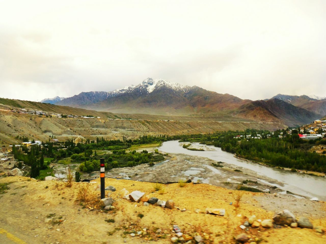Kargil village on the foothills.. Edge Of The World Landscape_photography Nature Photography Riverside Landscapes With WhiteWall