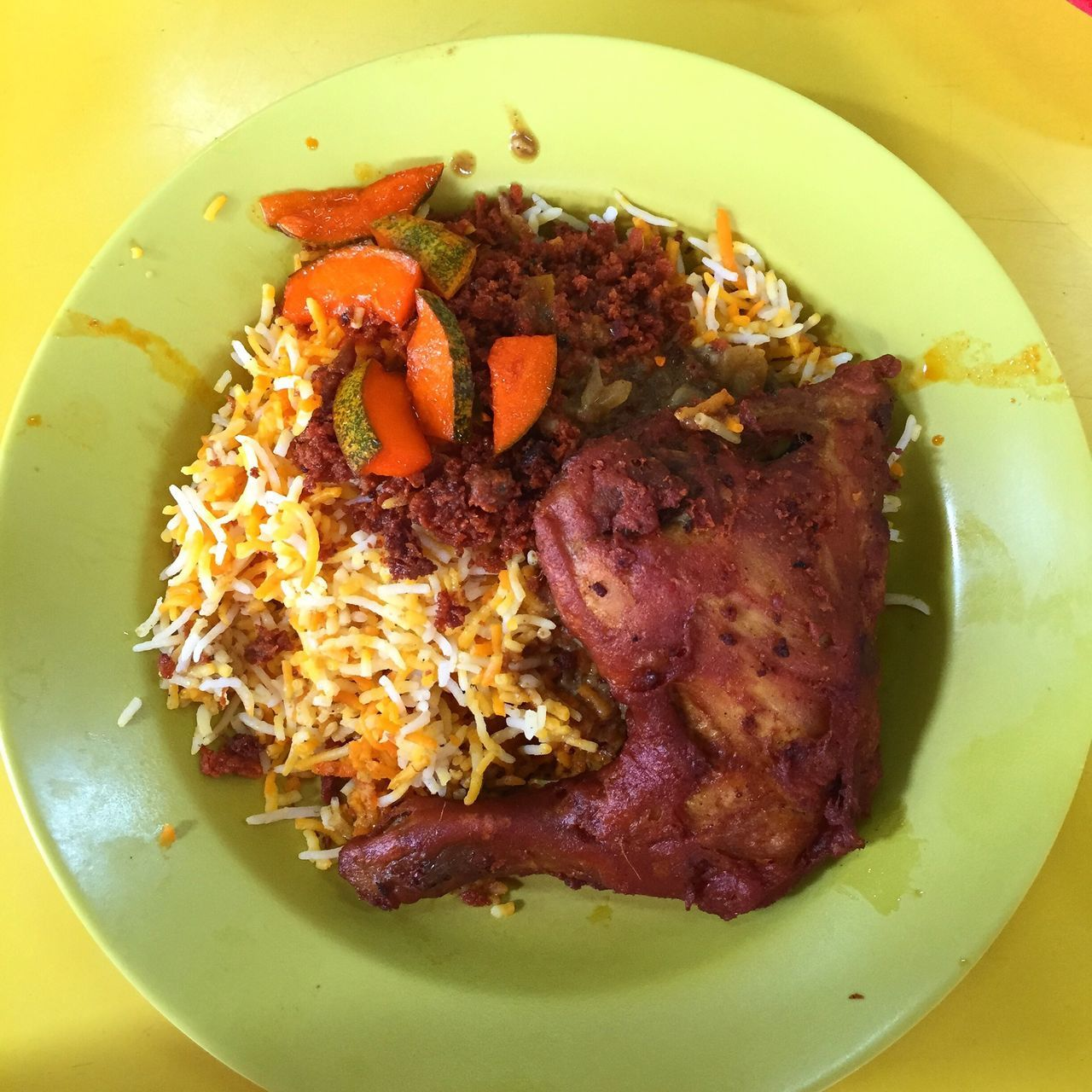Chicken Briyani Rice Fried Chicken Localfood Foodie Foodiecentral Foodphotography Food Sgeats
