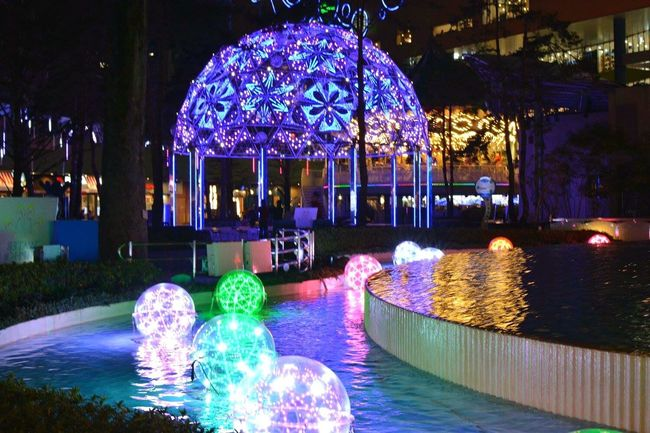 Night Lights Colors Colorful Water Reflections Nightphotography Nikon Bulb Cityscapes EyeEm Best Shots Streamzoofamily EyeEmJapan LaQua Tokyodome