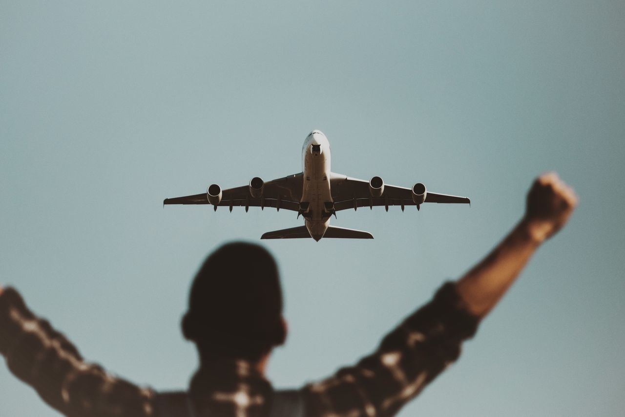 Beautiful stock photos of plane, Air Vehicle, Airplane, Airport, Arms Outstretched