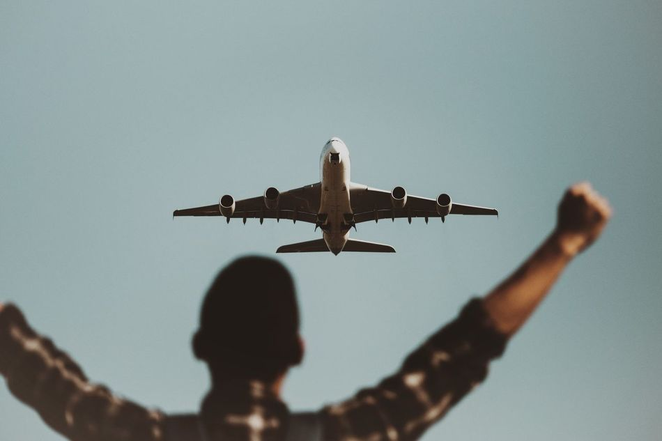 Beautiful stock photos of sydney, Air Vehicle, Airplane, Airport, Arms Outstretched