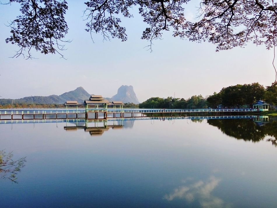 Lake View Zwekabin Bridge Serenity Kayin State, Burma. RedmiNotePhotography Travel Photography Eyeem Myanmar Hpaan Myanmar Kayinstate Mountain Lake