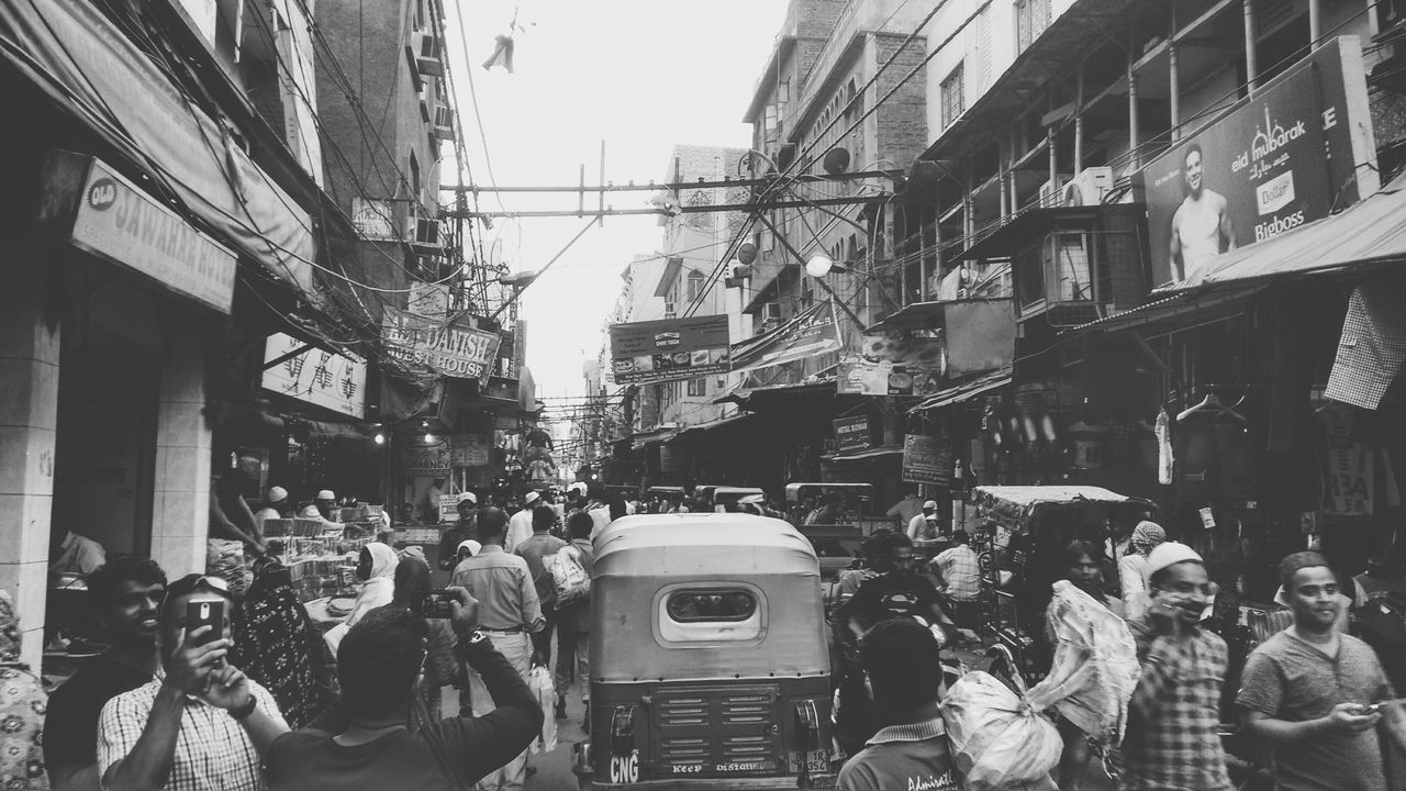 The Street Photographer - 2017 EyeEm Awards Chandni Chowk Old Delhi Street Crowd City Life Men Real People Outdoors Street View Photography Daily Lifestyle
