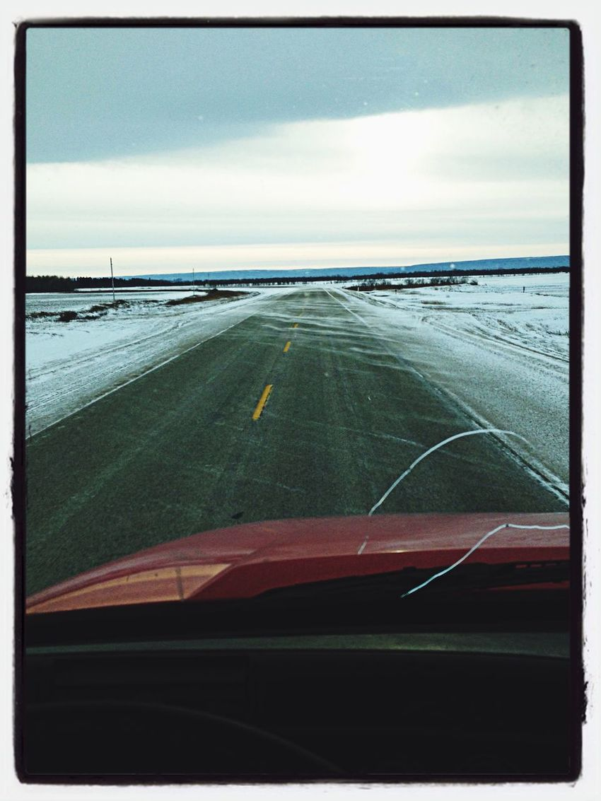 Winter driving truckerslife Life is a Highway Working For The Weekend... Manitoba