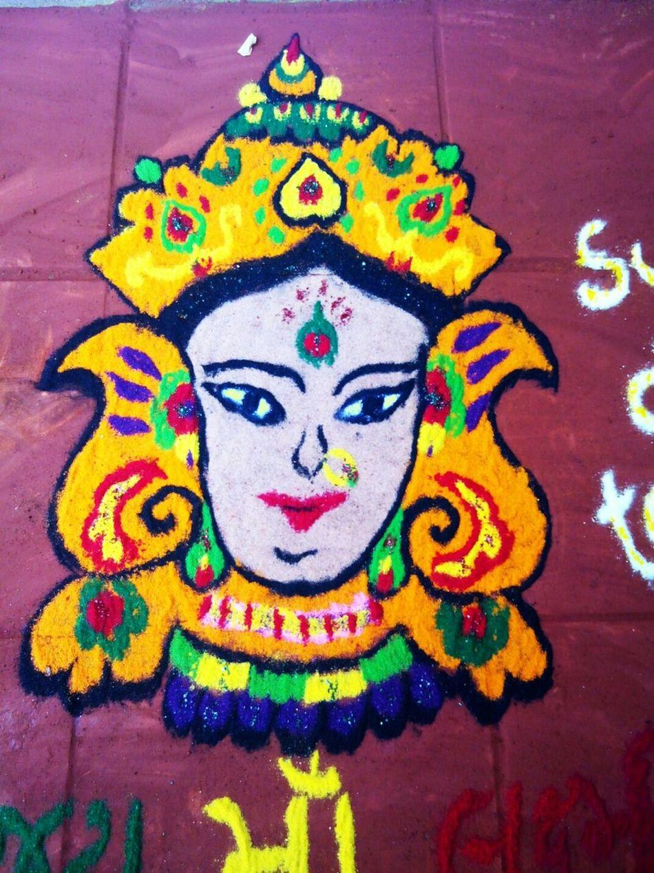 Vadodara Festive Season Diwalicelebrations MyRangoliArts Colorful Rangoli. Color Portrait Colorful