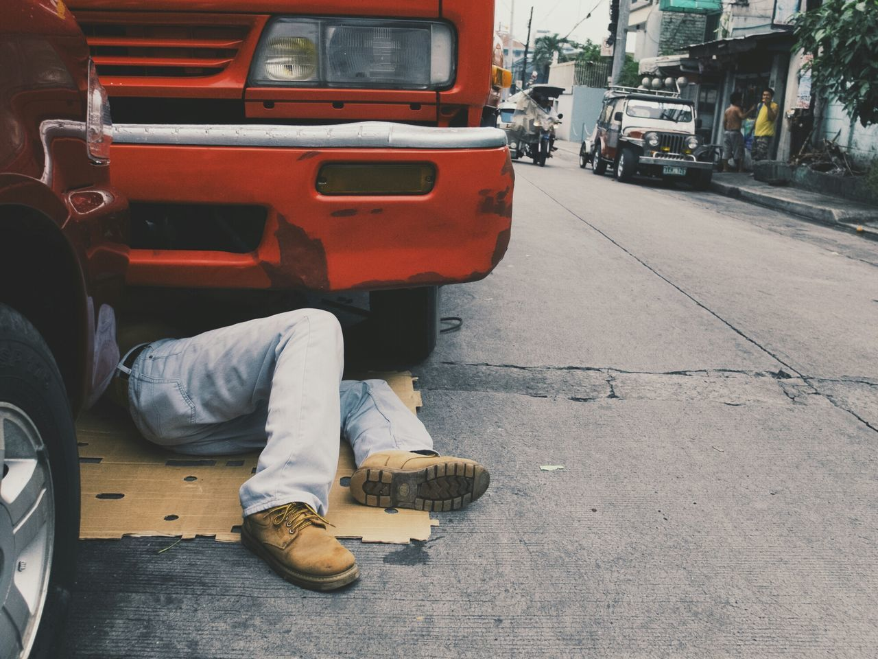 Beautiful stock photos of truck, Day, Human Body Part, Human Leg, Incidental People
