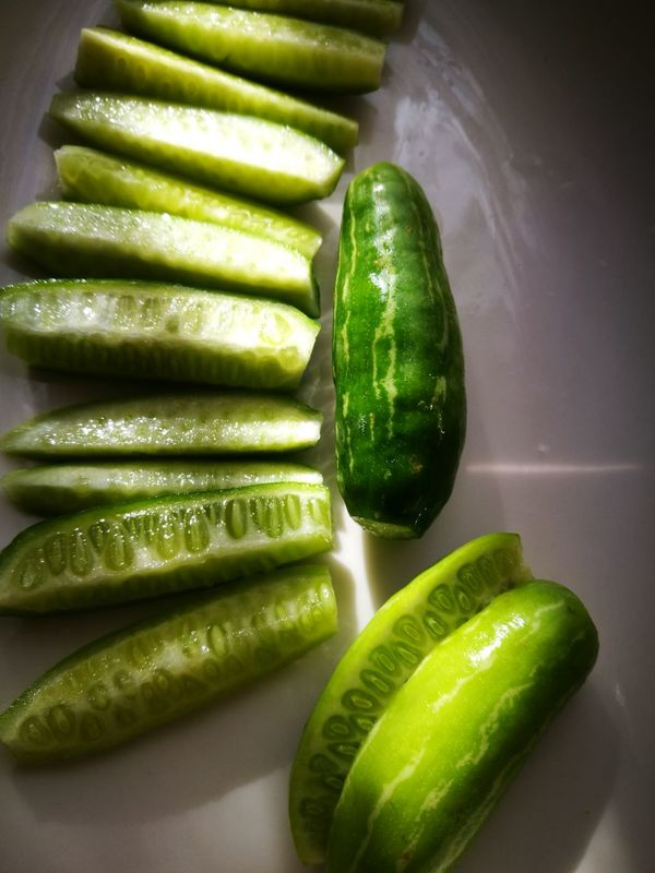 Trying new vegetable, my cooking experiment, March 2017, LondonGreen Color Vegetable Healthy Eating Freshness Food And Drink Food Zucchini No People Close-up Indoors  Day Huwaeileica Huawei P9 Leica Huawai Plate Vegetarian Food Vegan Vegetables Green Vegetables Green Veggies EyeEmNewHere Art Is Everywhere