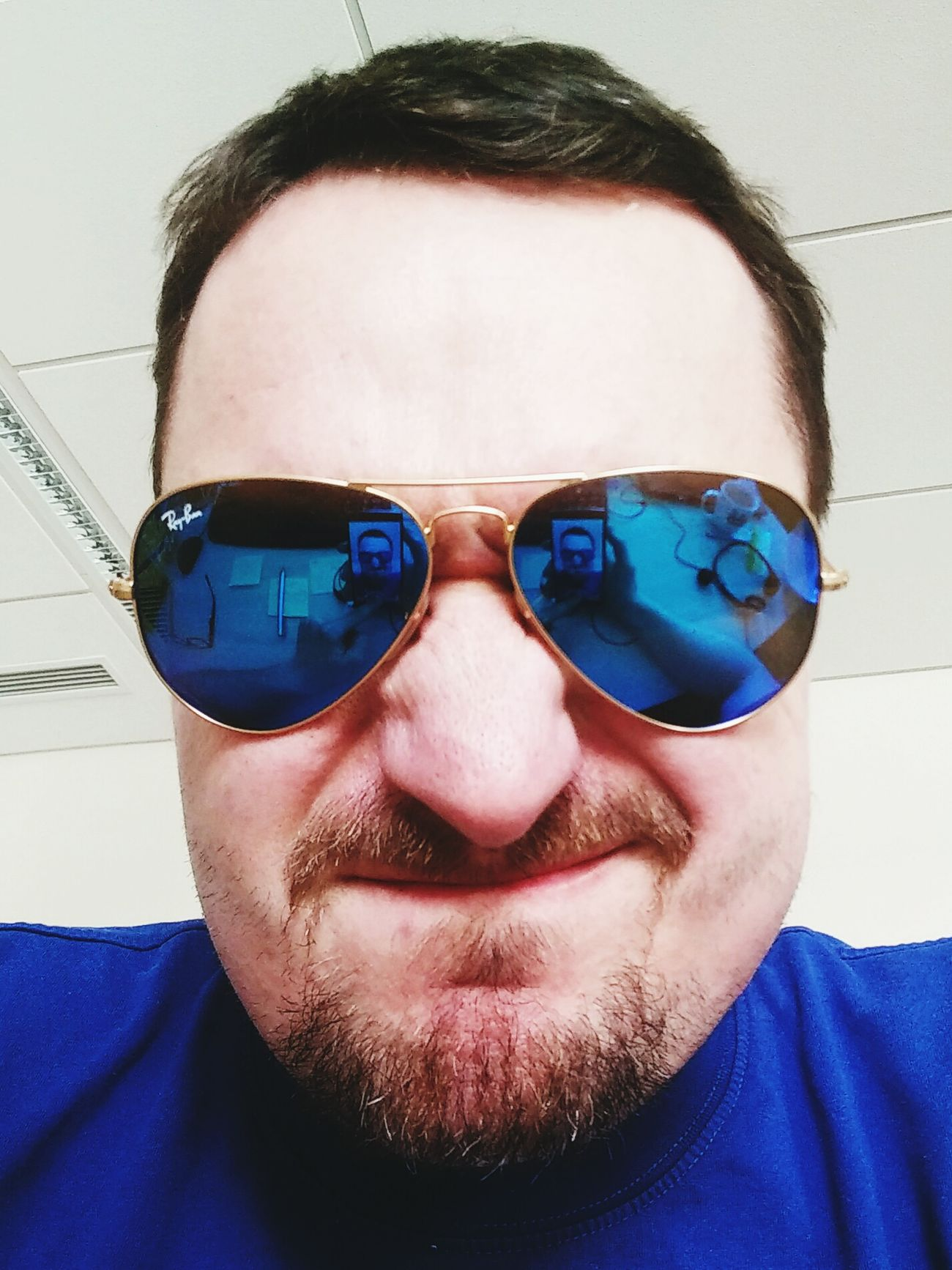 Selfie Raybansunglasses Rayban Feel Blue Blue Glasses Reflect Reflection Sunglasses