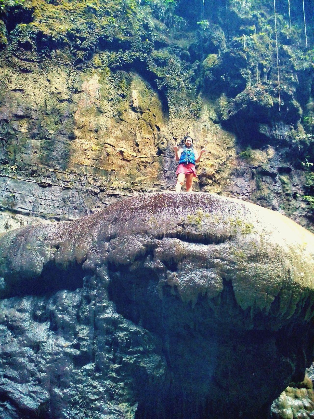 Naturelover Rafting Rock Formation Daredevil Jump! Greencanyon  INDONESIA
