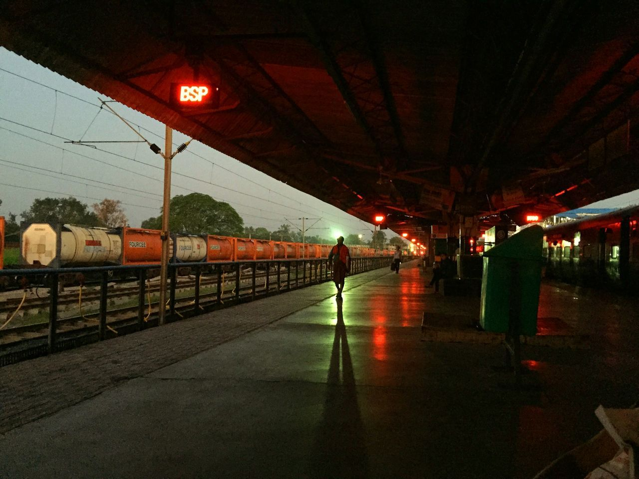 An Early Morning shot at Bilaspur Railway Station ..Lines and Silhouettes .. India