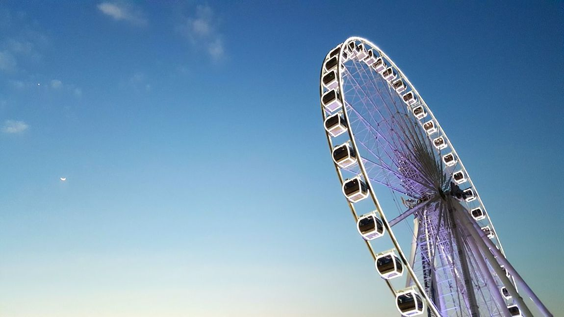 Ferris Wheel Sky Blue Clear Sky Outdoors Skyviewers Sky Photography Ferris Wheel Ferris Wheel At Night Ferris Wheels Ferriswheel Ferriswheelinthecity🎡🎢 Ferris Wheel Part Ferriswheel🎡 Ferris Wheel Sunset Ferrishwheel s Skyview Decoration