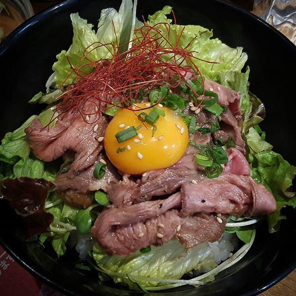Aussie Lamb served Japanese style Australianlamb Donburi Japan Lunch Lettuce Lamp Egg Rice