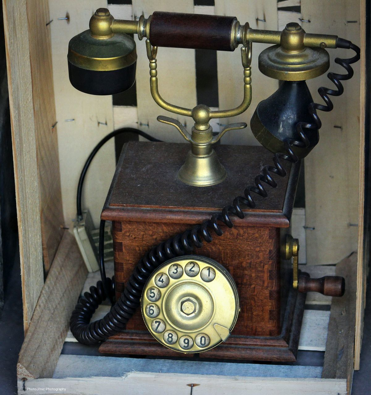 old-fashioned, retro styled, antique, rotary phone, indoors, close-up, landline phone, telephone receiver, wood - material, technology, vintage, no people, table, communication, telephone, day