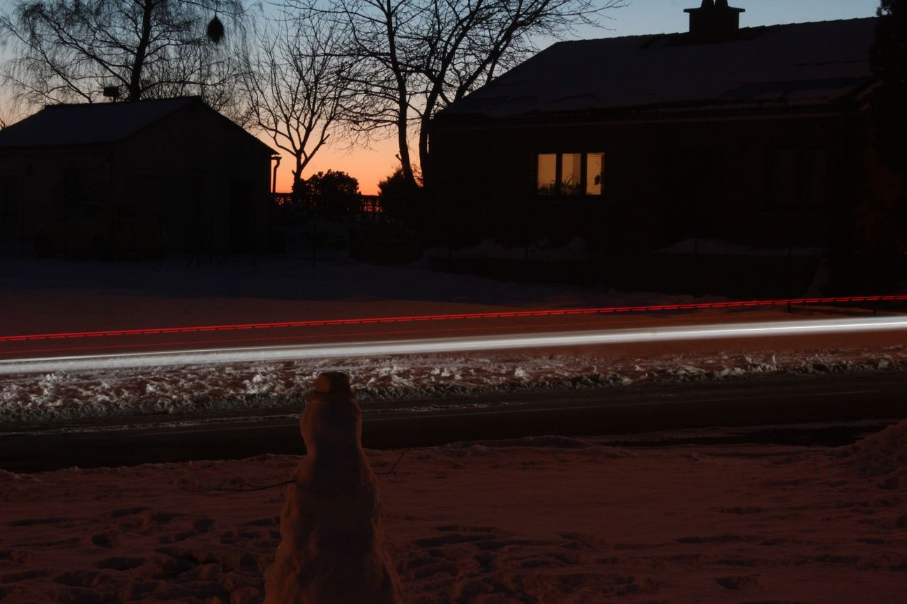 Red Outdoors Road Sky No People Driveway Bastogne Cold Temperature Picture Evening Evening Sunset Eyeemphotography Canon Nature Tranquil Scene Night Time Passes By Timelaps ISO Snow Winter