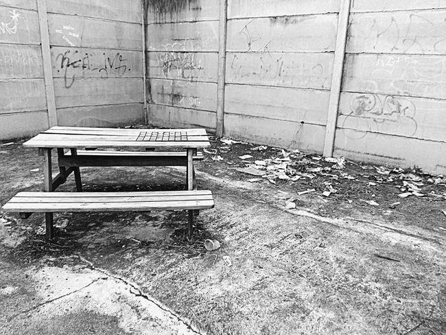 Hello World Parkbenches Benches Blackandwhite Garbage Taking Photos