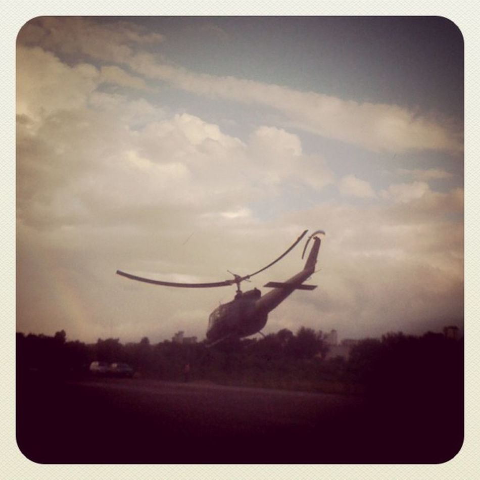 Dust Off 3Gonly March30thbatle Santiago Helicopter iphonegraphy