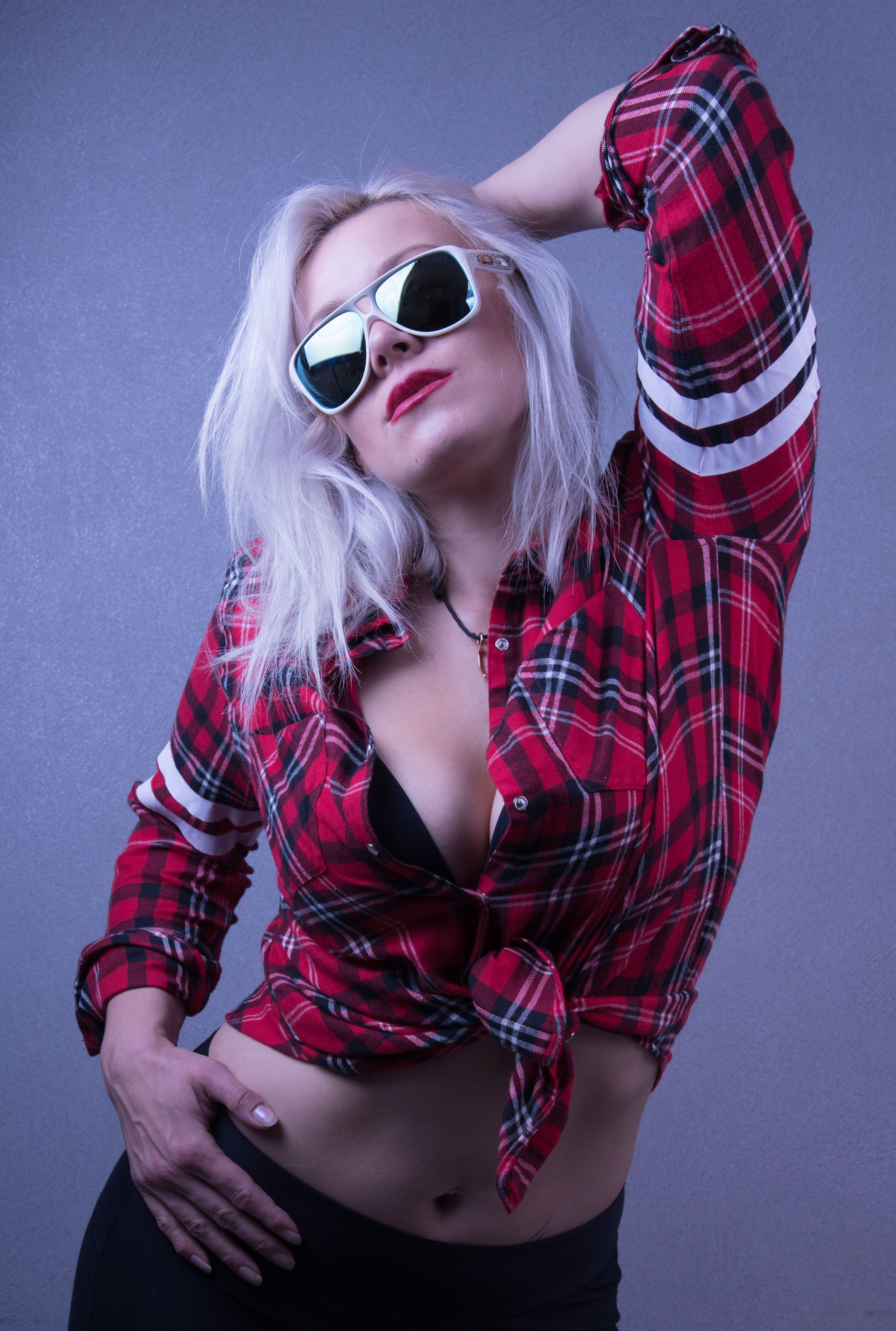 Helina, Finnish paragliding champion, shows some attitude :-) Sunglasses Blond Hair One Person Young Adult Music Studio Shot Young Women Beautiful Woman People Adult Adults Only Portrait One Young Woman Only Human Body Part One Woman Only Day