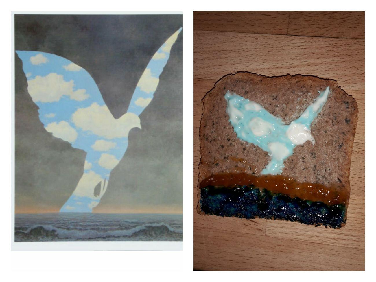 Rene Magritte Friedenstaube Art On A Toast Selfmade