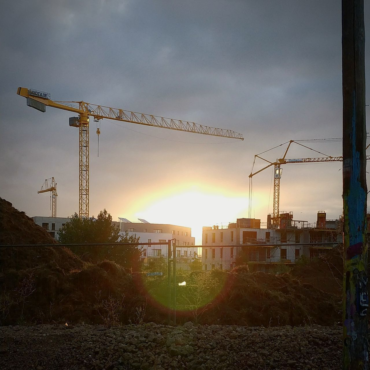 Sunset City Travaux Urbain Canal St Martin Quartier Armorique Rennes