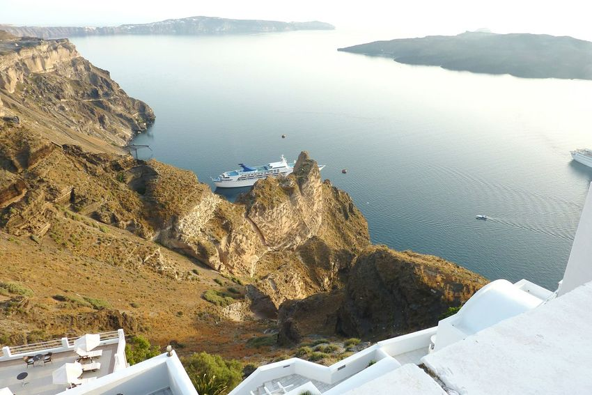 Nature Travel Destinations Scenics Sky Greece Santorini View