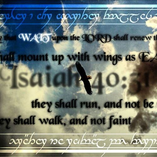 Those who Hope in the Lord will renew their strength. They will soar on wings like eagles; they will run and not grow weary, they Wii walk and not be faint. ~ Isaiah 40:31 <333 Favorite_scripture_of_all_time ......when we're in our most toughest of times, even the most strongest of people will get tired at times,but we need to hold And remember that God's strength never diminishes and his source of strength is our source of strength And we can do all things through him. So when we feel like life is crushing down on us, we need to remember to call upon God to renew our strength. hoping in the Lord its expecting that his promise of strength will help us rise above life's distractions and difficulties,so although your faith may be struggling or weak, just accept God's provisions and his care for you and let life fall according to his will,not by your own<3333Source_of_strength Life God 's_will not_our_own blessedthings_could_always_be_worsetrust_in_him <3333(;