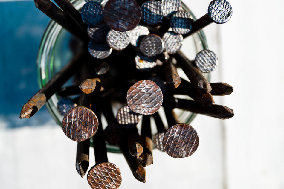 Beautiful stock photos of nail, Close-Up, Construction Industry, Day, Directly Above