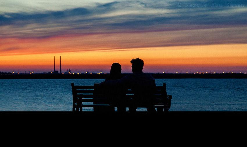 An evening with you Ireland Dublin Evening A Couple Silhouette Dusk Sunset Canon