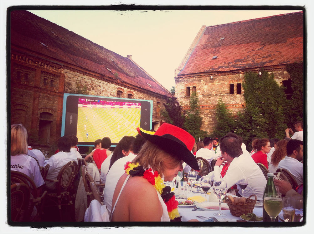 watching the game at MLOVE ConFestival by Ramzi Rizk